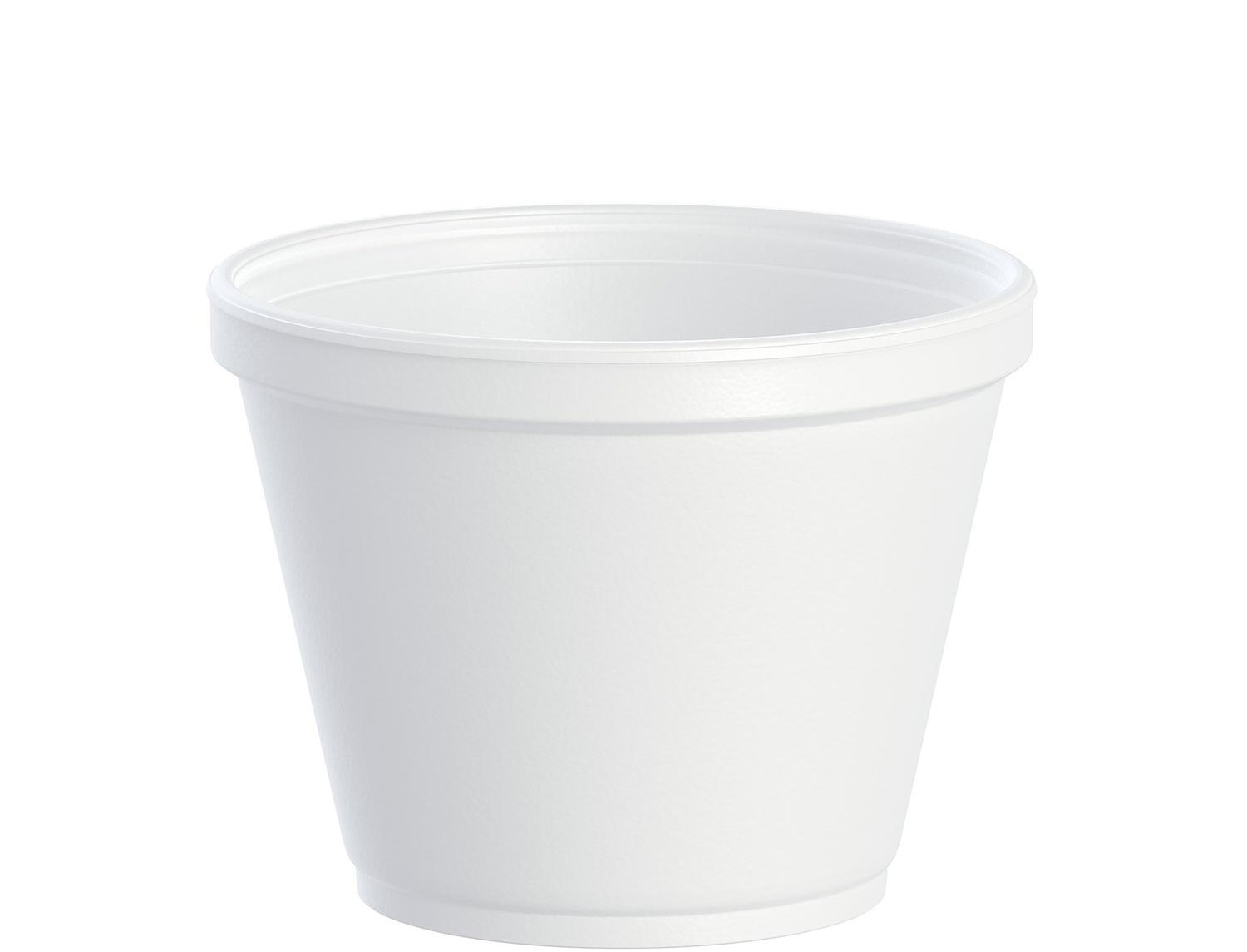 image of Container Foam Round White Squat 12 oz