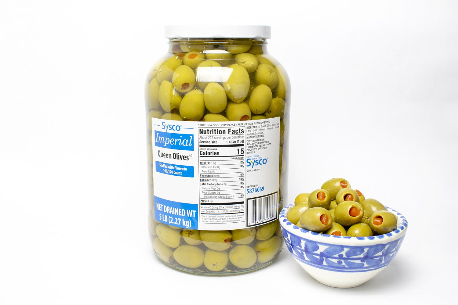 image of Olive Green Queen Pimento 100/120