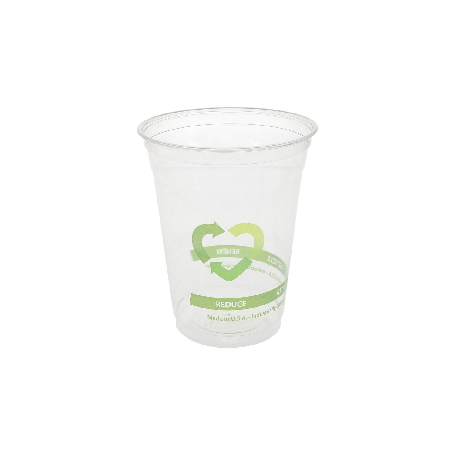 Image of Cup Plastic Clear Pla (polylactic Acid) Cup 16-18 Ounce