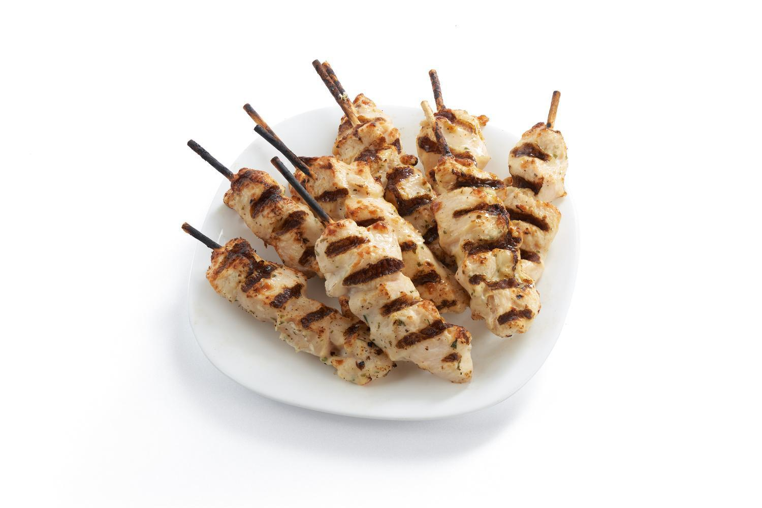 Image of Fully Cooked Chicken Breast Skewers