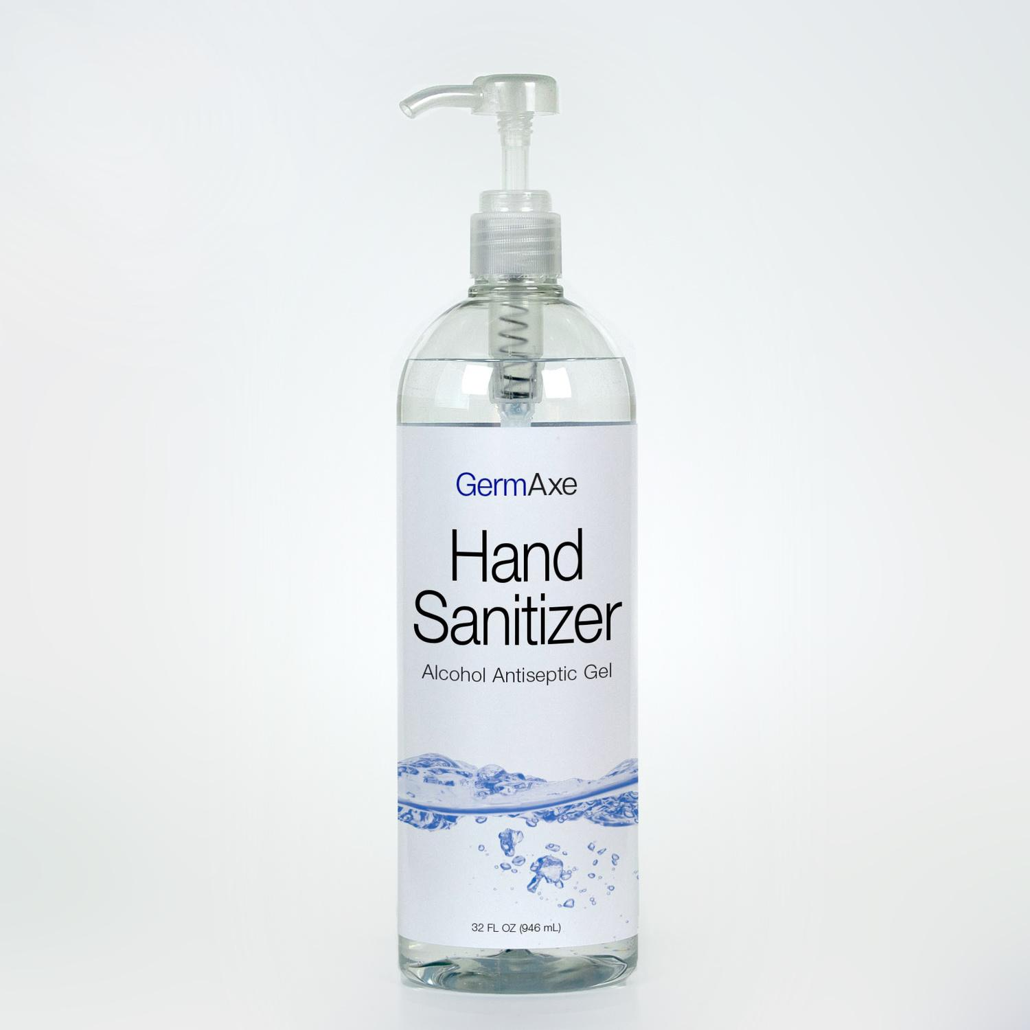 Image of  Sanitizer Hand Gel with Pump (GermAxe)