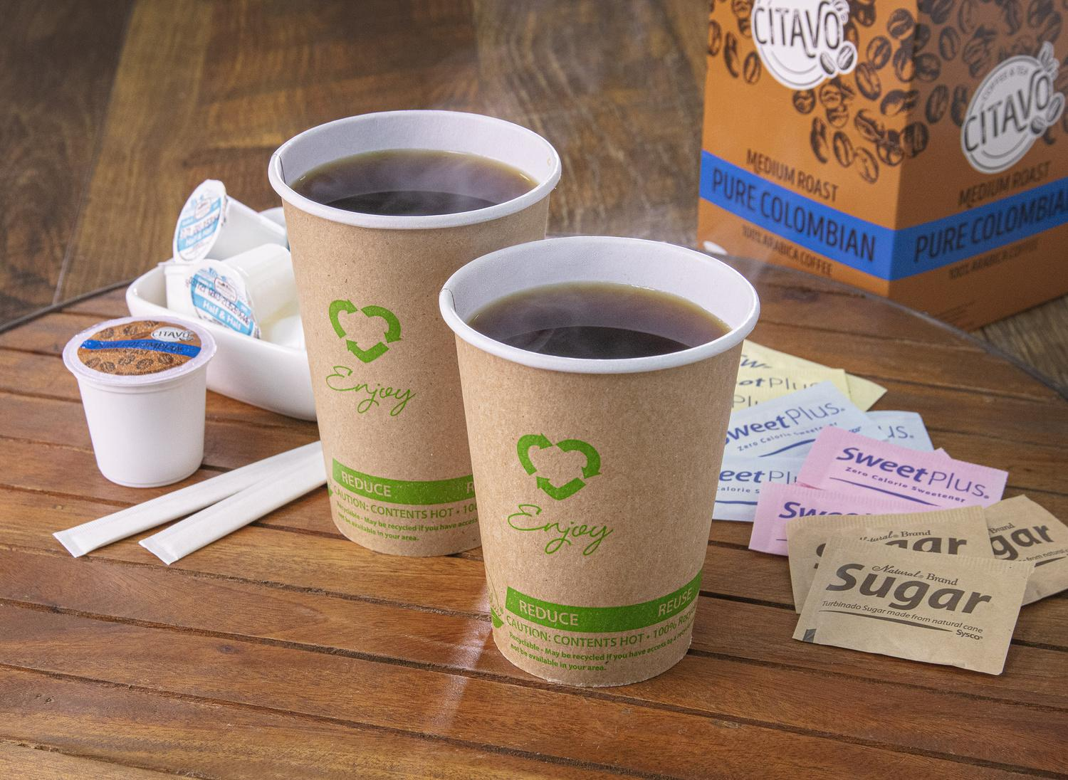Image of Earth Plus 100% Recycled Fiber Hot Cups