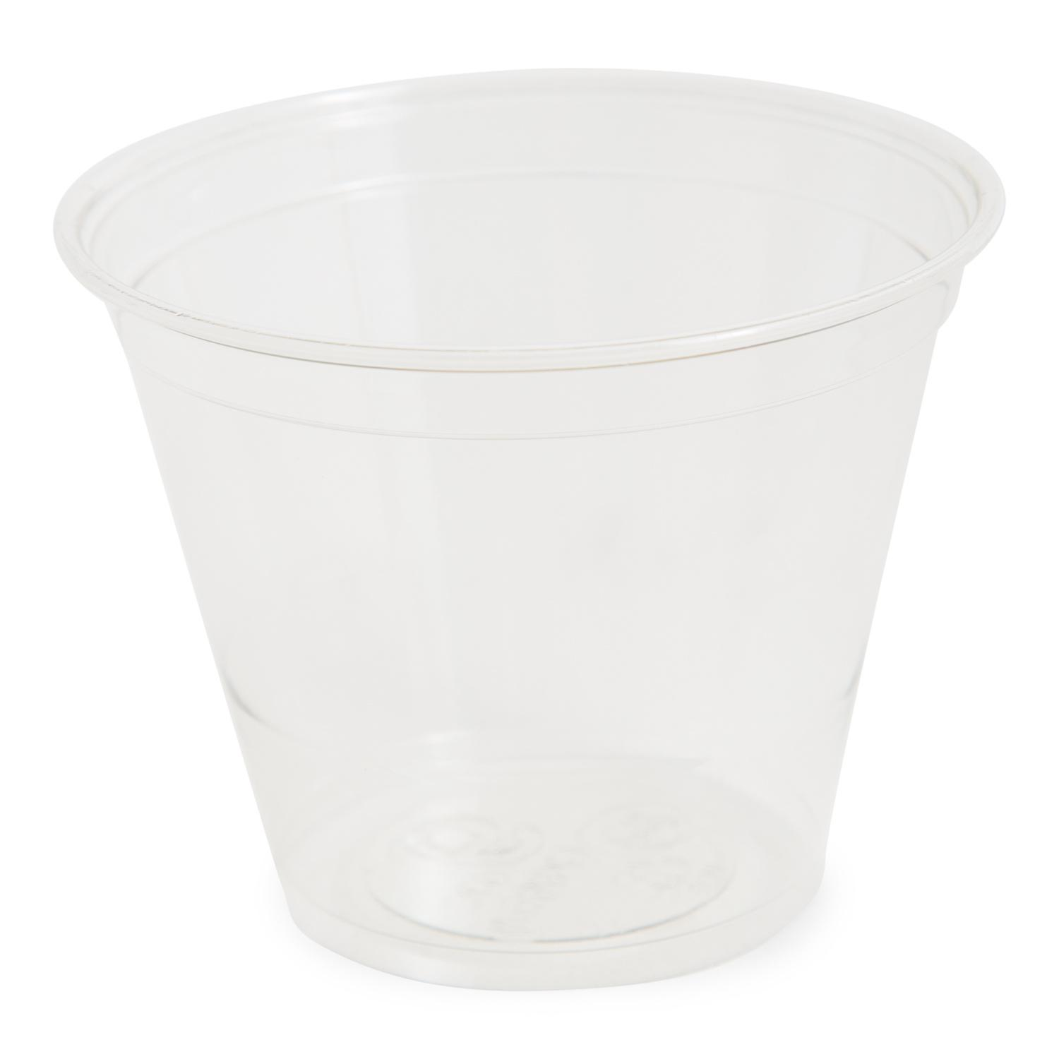 image of Cup Pet Plastic Clear Squat 9 Ounce